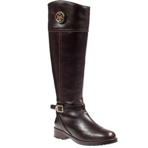 Tory Burch Brown Knee High Riding Boot